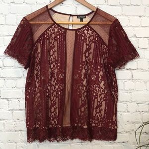EXPRESS Lace Top Size Large
